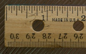 """Ruler - Wooden; INCHES, so why no """"Inches"""" label?"""